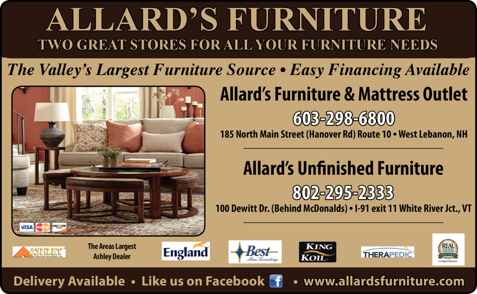 Furniture Designers Custombuildersallard S Mattressoutletwww Allardsfurniture 185 North Main Streetwest Lebanon 603 298 6800