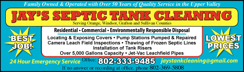 SEPTIC TANKS SYSTEMS CONTRACTORS DEALERS in Lebanon, NH