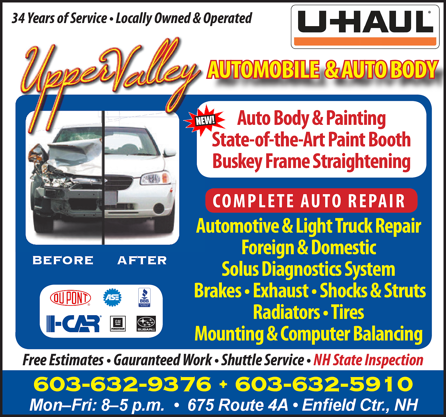 automobile body shop equipment supplies in lebanon nh