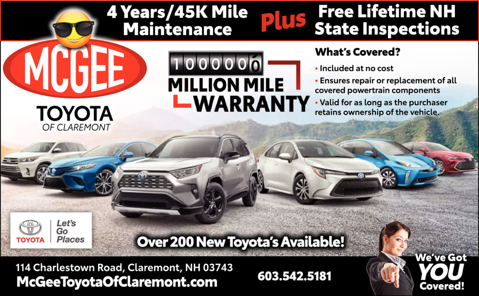 Mcgee Toyota Of Claremont In Lebanon Nh